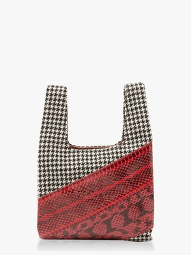 Houndstooth Watersnake Mini Shopper Bag