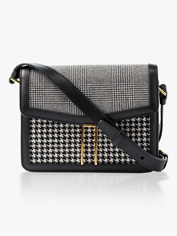 Houndstooth Mini Crossbody Bag