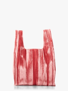 Rolled Velvet Mini Shopper Bag