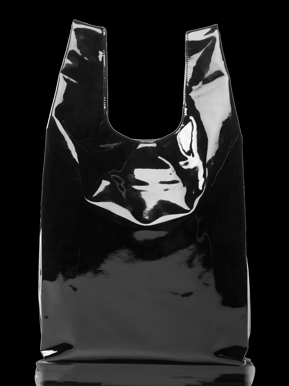 Vegan Patent Leather Shopper Bag