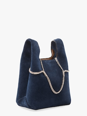 Suede Mini Shopper Bag