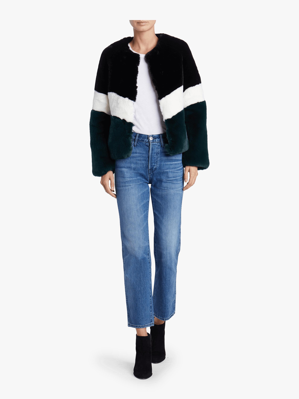 Brigitte Striped Short Jacket