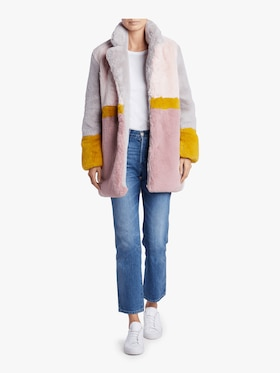 Lisa Color Block Oversized Coat