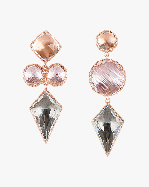 Larkspur & Hawk Sadie Mis-Matched Kite 3-Drop Earrings 0