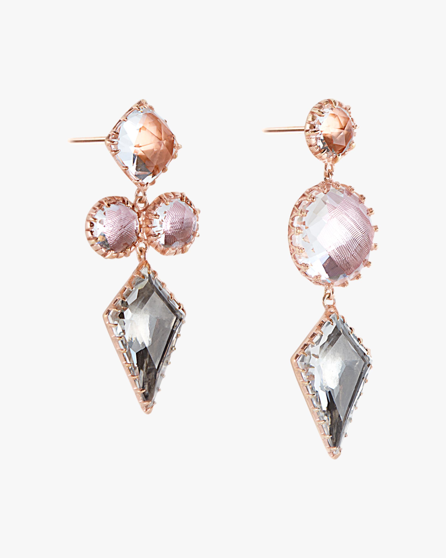 Larkspur & Hawk Sadie Mis-Matched Kite 3-Drop Earrings 1