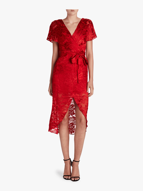 Darva Mock Wrap Cocktail Dress