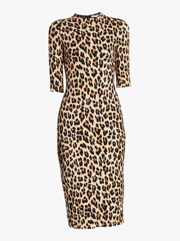 Delora Fitted Mock Neck Midi Dress