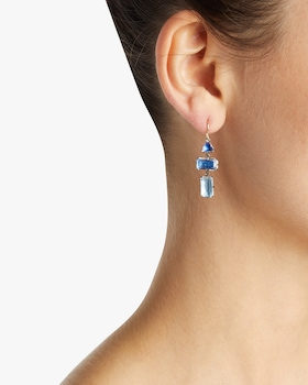 Caterina Baguette Drop Earrings