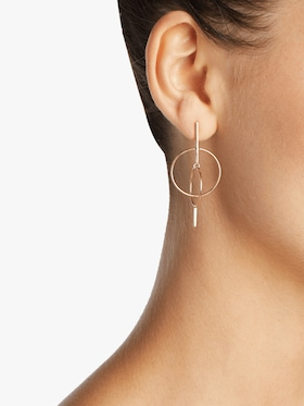 Gold Floating Circle Earrings