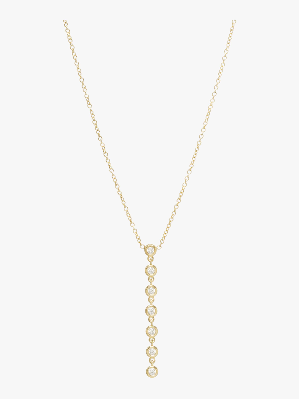 Seven Diamond Drop Necklace