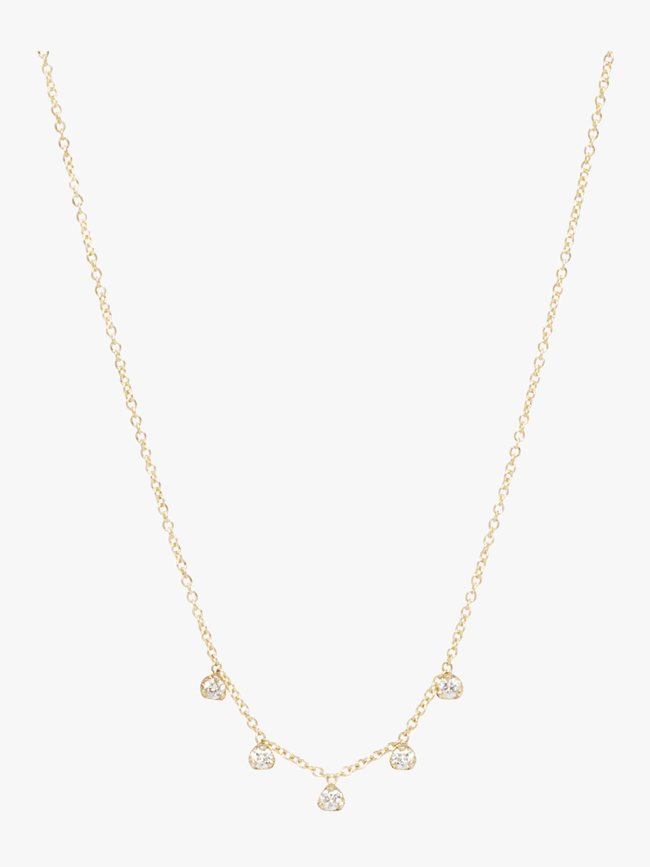 Prong Diamonds Station Necklace