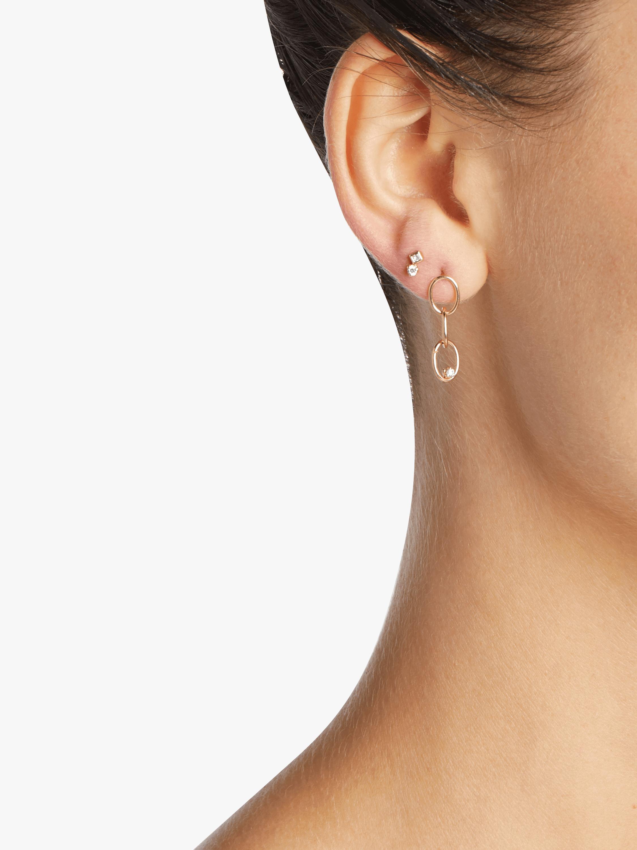 Chain Link Circle Earrings