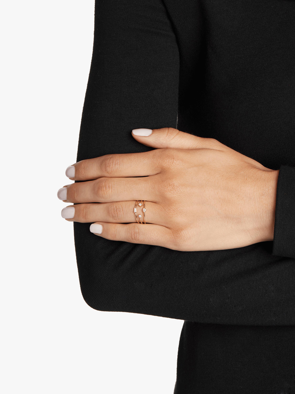 Three Band Mixed Diamond Ring