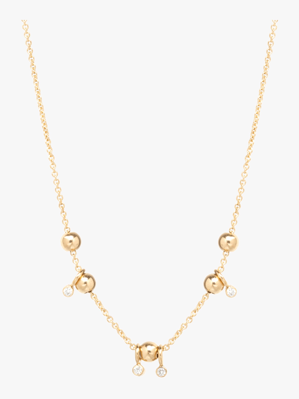 Sliding Bead Station Necklace