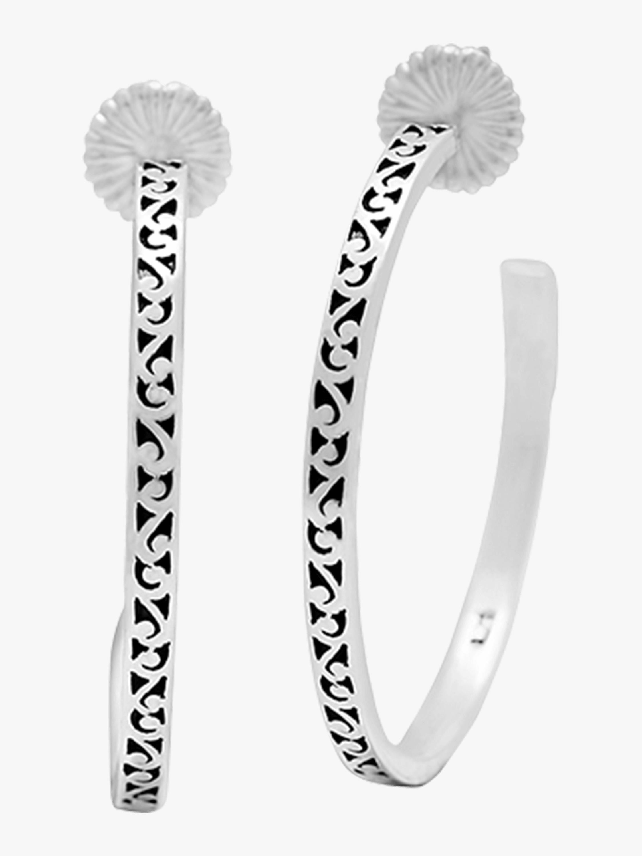 Decorative Scroll Hoop Earrings
