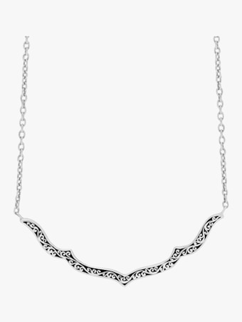 Scroll Curved Pendant Necklace