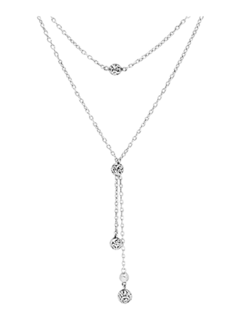 Sterling Silver Lariat Necklace