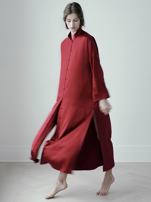 Poppy Silk Nightgown