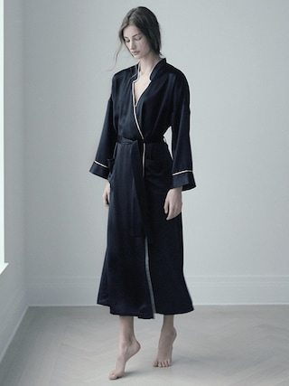 Pine Silk Robe