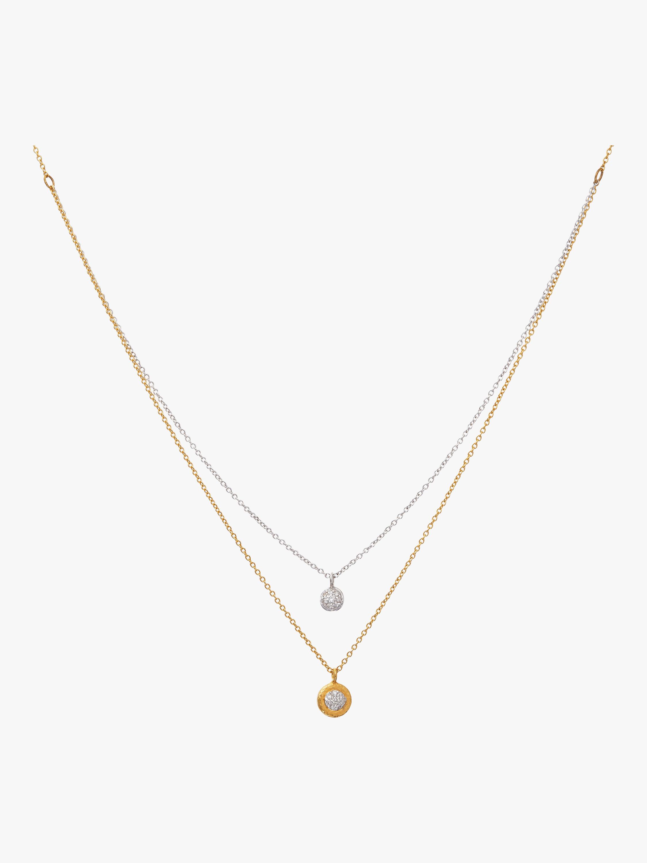 Double Strand Delicate Pavé Necklace