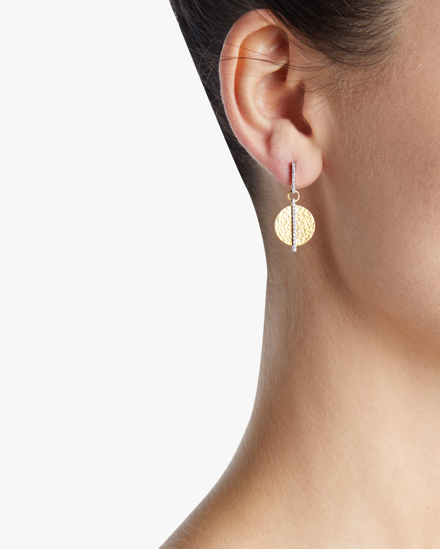 Small Lush Diamond Drop Earrings