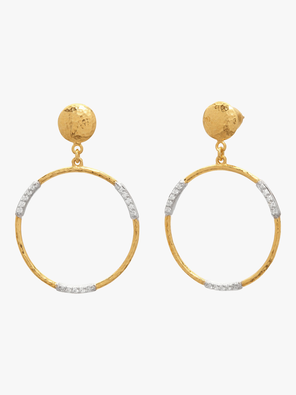 Delicate Geo Pavé Drop Earrings