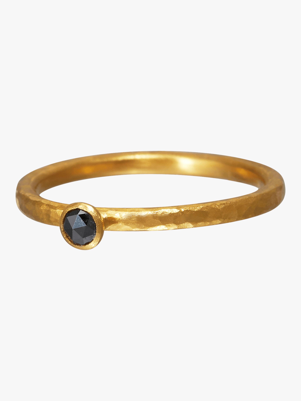 Stacking Skittle Black Diamond Ring