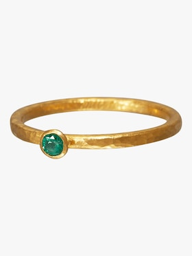 Stacking Skittle Emerald Ring