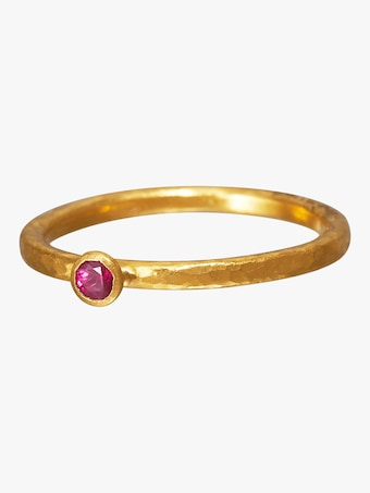 Gurhan Stacking Skittle Ruby Ring 1