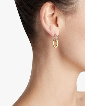 Single Drop Hoop Top Galahad Earrings