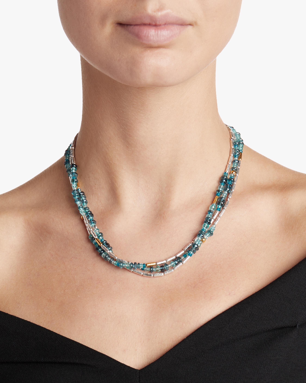 Vertigo Flurries Triple Strand Necklace