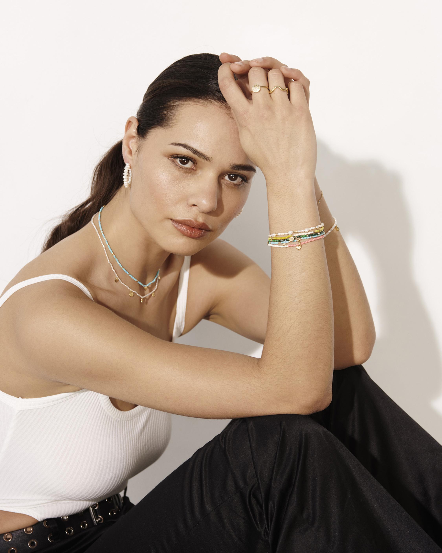 With Love Darling Energy Medallion Beaded Bracelet 2