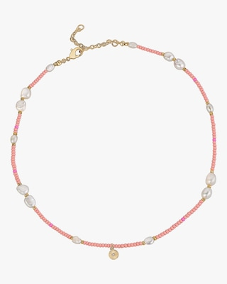 With Love Darling Wheel Beaded Necklace 1