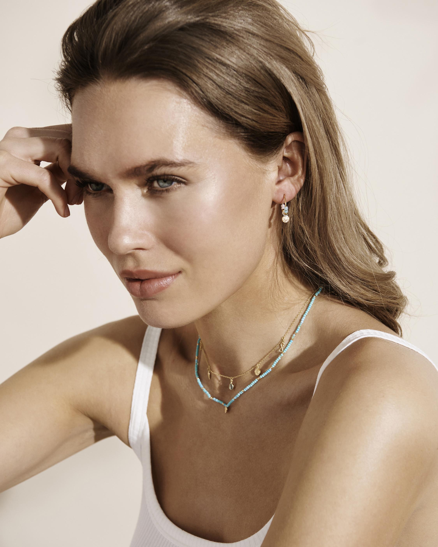 With Love Darling Water Drop Beaded Earrings 1