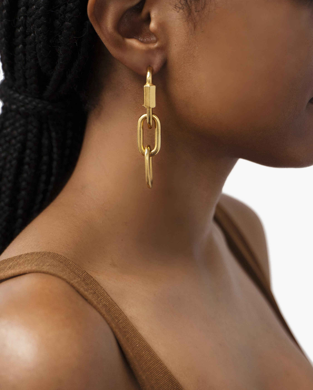 Ben-Amun Screw Link Drop Earrings 1