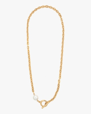 Ben-Amun Glass Pearl Rope Lariat Necklace 1
