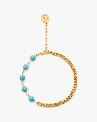 Ben-Amun Glass Bead Curb Chain Anklet 2