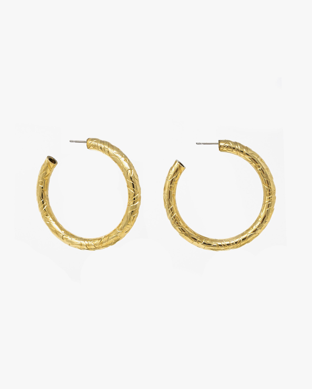 Ben-Amun Textured Hoop Earrings 1