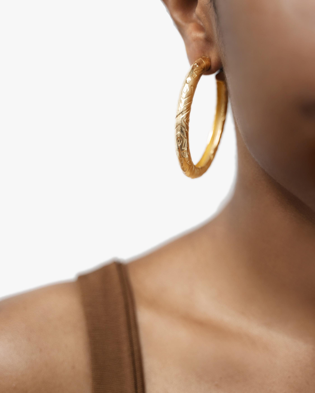Ben-Amun Textured Hoop Earrings 2