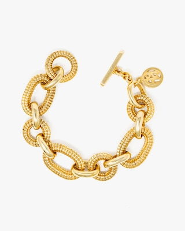 Ben-Amun Textured Link Chain Bracelet 1