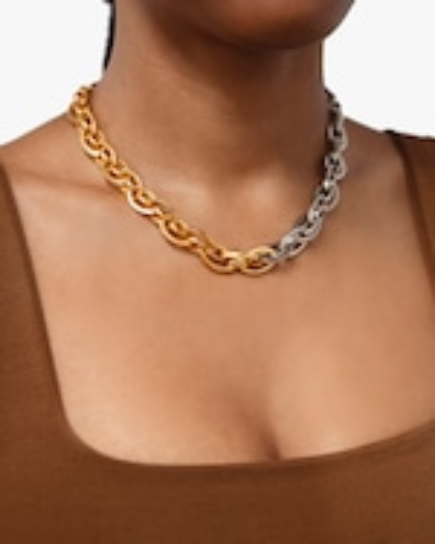 Ben-Amun Two-Tone Chain Necklace 2