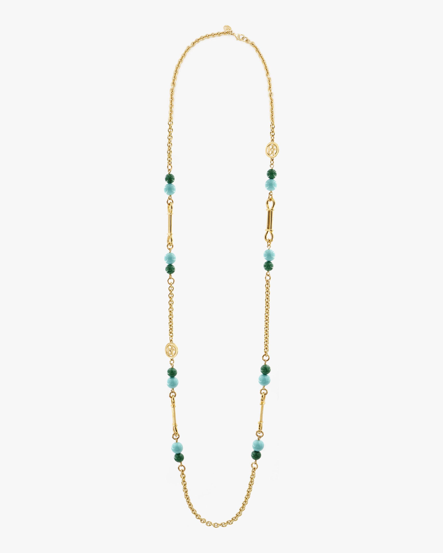 Ben-Amun Glass Stone Long Station Necklace 0