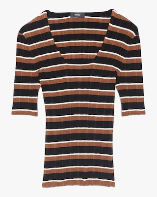 Theory Stripe Pullover Top 1