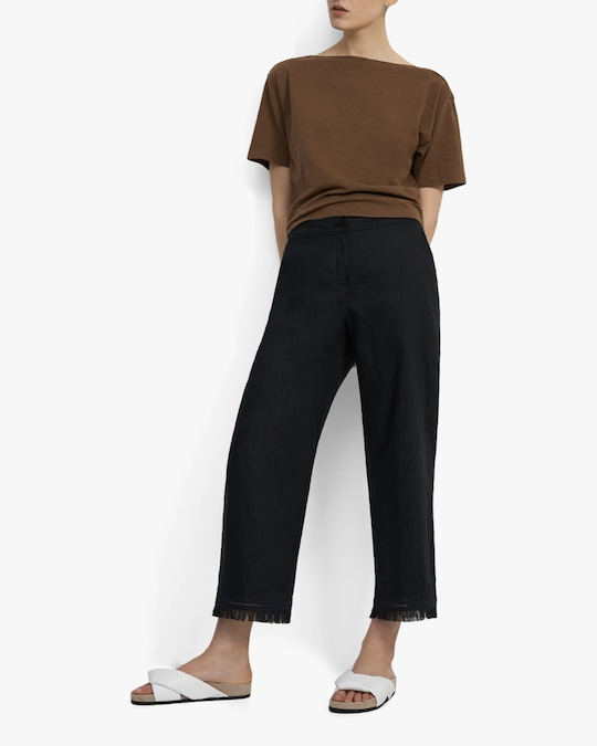 Theory Embroidered Fringe Pants 1