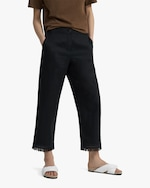 Theory Embroidered Fringe Pants 3