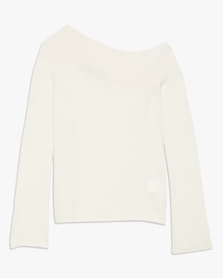 Theory Asymmetrical Off-shoulder Sweater 1