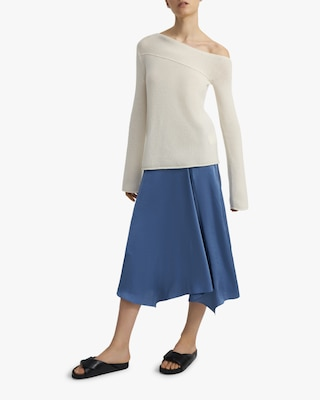 Theory Asymmetrical Off-shoulder Sweater 2