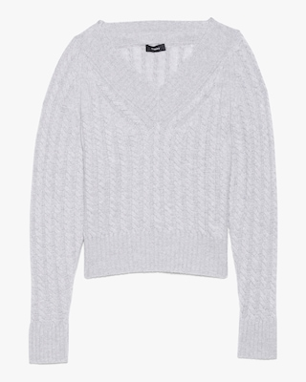 Theory V-Neck Ribbed Sweater 1