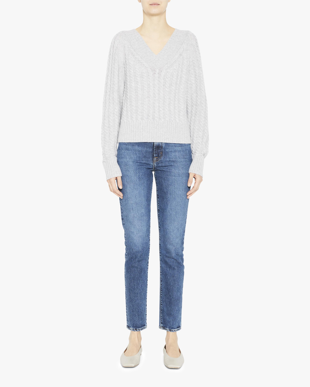 Theory V-Neck Ribbed Sweater 2