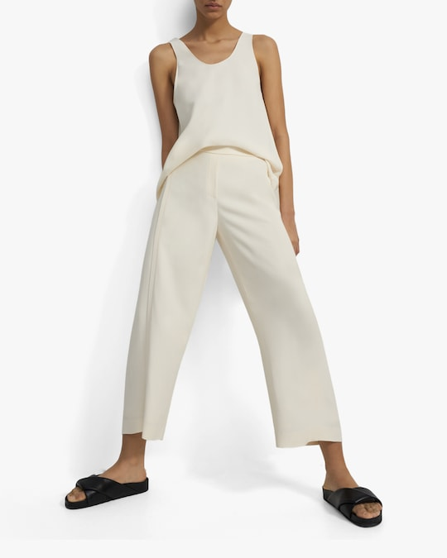 Theory Forward Seam Cropped Pants 1